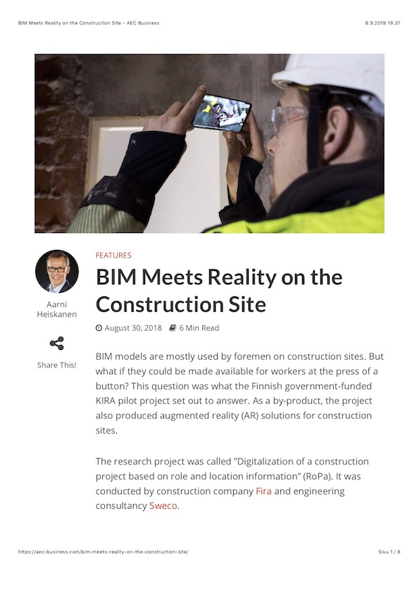BIM Meets Reality on the Construction Site - AEC Business